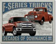 Ford F-series Trucks Since 1948 Vintage Tin Sign Garage Wall Poster Decor Ad