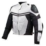 New Pro Mesh Motorcycle Jacket Rain Waterproof White