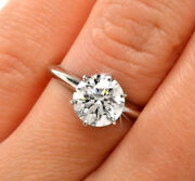 1.5ct Round Cut Diamond Solitaire Engagement Ring 14k White Gold Finish 8.5