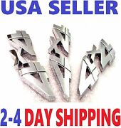 3x Chrome 4x4 Emblem 4 X 4 Truck Old Logo Decal Sign Badge Letters Fit All Cars