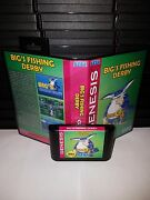 Bigand039s Fishing Derby - Video Game For Sega Genesis Cart And Box