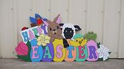 Happy Easter Baby Animals And Eggs Yard Art Decoration