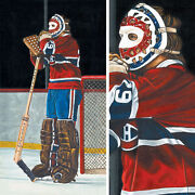 18wx36h Ken Dryden By Kyle Williams -montreal Canadiens Habs Choices Of Canvas