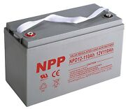 Npd12-110ah 12v 110ah Rechargeable Deep Cycle Sealed Lead Acid Storage Battery