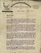 Aultman And Taylor Machinery Co. Letterhead Decatur Il 1918 Threshers Hullers