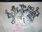 1957 57 Chevy Exact Front Bumper And Brackets Bolt Mounting Set W/ Marsden Nuts