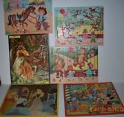 Vintage Lot Of 14 Complete Jigsaw Puzzles Whitman Jaymar