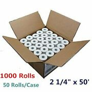 1000 Rolls 2 1/4 X 50and039 Thermal Cash Register Pos Receipt Paper Free Shipping