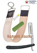 Barbers`s Straight Razor, Leather Strop, Paste, Honing Compound With 0.5 Micron