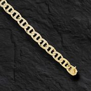 10k Solid Yellow Gold Handmade Mariner Link Menand039s Necklace 24 6.5 Mm 45 Grms