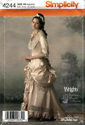 Simplicity 4244 Oop C1885 Late Victorian Wedding Dress Costume Sewing Pattern