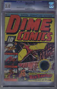 Dime Comics 3 Bell Features Pub. Cgc 3.0 G/vg Canadian Edition Johnny Canuck