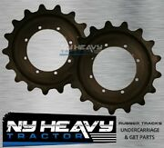 Two Id2641 Sprockets For John Deere Ct332 Free Shipping Compact Track Loader