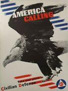 1941 America Calling Take Your Place In Civilian Defense War Poster Matter Wwii