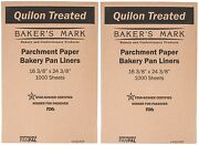 2000 16 X 24 Full Size Quilon Coated Parchment Paper Pan Liner Baking Sheets
