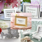 Silver / Gold Photo Frames   Metal Album   Wedding Favour Gift Place Card Holder