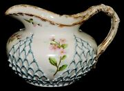 Porcelain Cider Pitcher Ktandk Lotus Ware Knowles Taylor And Knowles C1895 7l