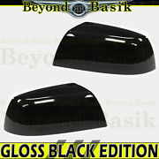 For 2007-2021 Toyota Tundra Gloss Black Mirror Covers Overlays Non-tow Top Half