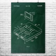 Super Snes Video Game System Poster Print Classic Videogame Console