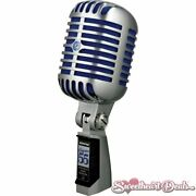 Shure Super 55 Deluxe Classic Vocal Microphone Rockabilly 1950s Style