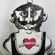 Rare Vtg C1940 Comic Flexing Muscle Man 16 Pull String Puppet Paper Toy ☆tattoo