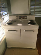 White Frigidaire Antique Stove - 1954 Collectible Instruction Manual Included