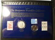 Benjamin Franklin, Stamps And Coins, Series Iii, New, Us Commemorative Gallery