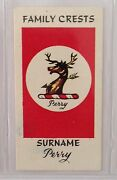 Perry Surname Family Crests 1961 Card Sweetule Products Advertising B81