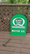 Old Quaker State Oil Sign....excellent Condition