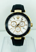 Versace Menand039s I8c80d001s009 Mystique Plated Multifunction Chronograph Watch