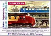Ee 1965/66 E Us Gd Marklin Ho Catalog 1965 1966 Picture Of 3070 Good Cond