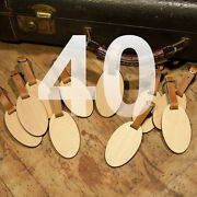 40 Custom Made Wooden Oval Personalized Luggage Id Tag With Your Name And Address