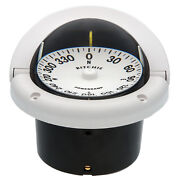 Ritchie Marine Hf-742 Helmsman Flush Mount Boat Compass White 12v Lighted Dial