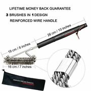 Ss Brushes Weber Charcoal, Charbroil, Electric, Smoker Bbq Grills + Nylong Bag