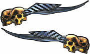 Motorcycle Harley Gas Tank Graphics Decals Stickers Skull Flames Wrap 22x 6