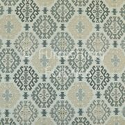 Aztec Traditional Medallion Kilim Pattern Grey Beige Chenille Upholstery Fabric