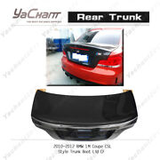 Carbon Boot Lid Cover Fit For 10-12 Bmw 1m E82 Coupe Csl Style Rear Trunk Wing