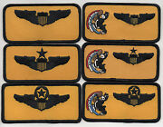 Usaf Patch 90th Flying Training Squadron 6 Piece Nametag Set Each 2 X 4 Size