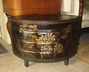 Antique Chinese Hand-painted Leather Stacking Boxes/wedding Box Side Table