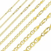 10k Solid Yellow Gold Mariner Necklace Chain 2-6mm 16-30 -anchor Link Men Women
