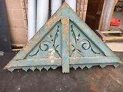 Circa 1880and039s Victorian Gingerbread House Gable Pediment - Old Teal Paint 77x43