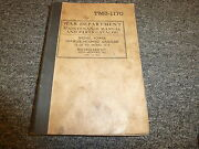 1943 War Dept Bucyrus Erie 15b Excavator Parts Catalog And Owner Operator Manual