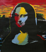 Mona Lisa By Steve Kaufman - Andy Warhol -mixed Media On Canvas- Signed And Unique