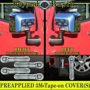 For 2007-15 2016 2017 Jeep Wrangler Chrome 4 Door Handle Covers+mirrors+tailgate