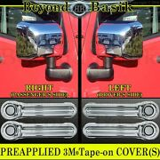 For 2007-13 2014 2015 2016 2017 Jeep Wrangler Chrome Door Handle Covers+mirrors