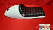Wider Vincent Cafe Racer Seat With Built In Tail Light And Bolt On/off Deluxe Pad