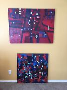 Red White And Blew Original Oil Paintings - American Artist Brian Potter