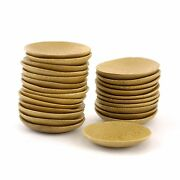 Solid Bamboo Wood Mini Dishes Plates Bowls Bamboomn Wholesale