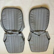 Austin Healey Bugeye Sprite Mki Mkii Gray With Black Piping Seat Covers New