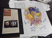 Rare Nolan Ryan Autographed T-shirt From Lawsuit Over Rookie Card Sold W/ Coa